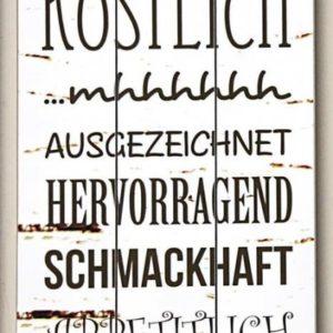 """Deko Bild Wandtafel Spruch """"Das Essen war mal wieder..."""""""