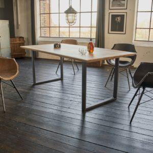 KAWOLA Tisch FREY Esszimmertisch Wildeiche massiv 180x90cm / schweizer Kante