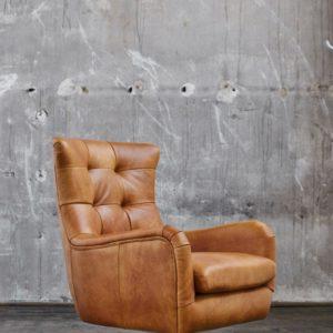 KAWOLA Sessel Relexa Leder cognac B/H/T: 69x77x95cm