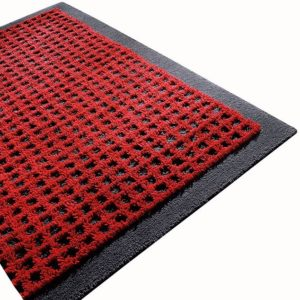 GRID Teppich - 200 x 300 cm - Rot/Anthrazit