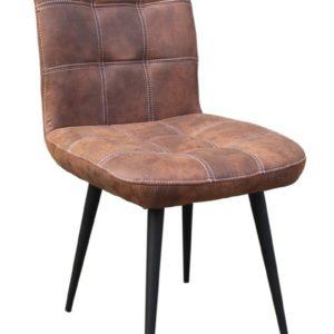 4x Stuhl Senta Esszimmerstuhl Kunstleder braun