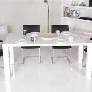 Tenzo ICE Esstisch, 180 x 90 cm - Hochglanz-Weiß