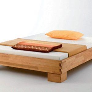 Massivholz-Bettgestell CASTELLO, 140 x 200 - Buche geölt