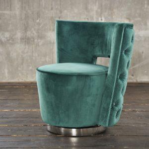 KAWOLA Sessel SENSO Stoff Velvet grün