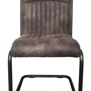 6x Stuhl Taxo Esszimmerstuhl Freischwinger Kunstleder grau
