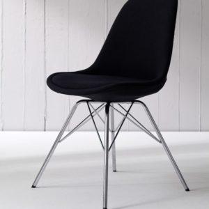 Tenzo Stuhl PORGY fabric schwarz / chrom 2er Set