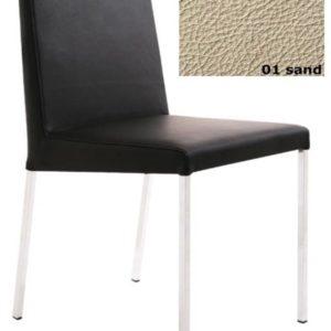KFF Spring Nova, Gestell Mattchrom - Leder - Sand 01