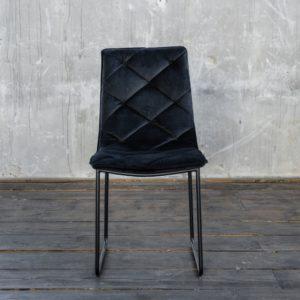 KAWOLA Stuhl RENI Esszimmerstuhl Velvet schwarz
