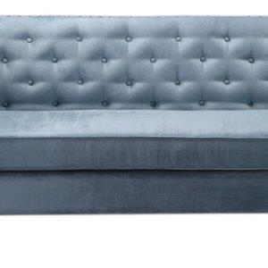 SIT Sofa Grau Blau 3-Sitzer - ICECUBE