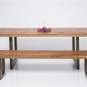 Kare Factory Tisch Wood 200 x 90 cm Teak - Eisen