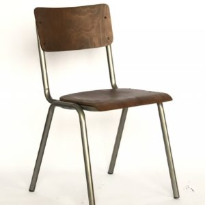 KAWOLA Klassenzimmerstuhl DISCERE Stuhl Metallgestell silbergrau