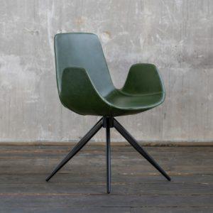 KAWOLA Stuhl QUEN Esszimmerstuhl Besprechungsstuhl Drehstuhl grün