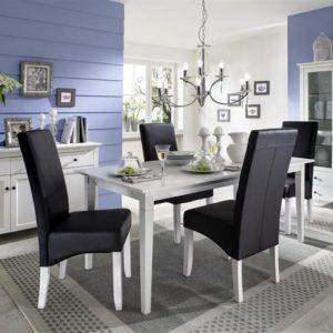SIT Annika Esstisch mit 2 Ansteckplatten 180/270 x 90 cm Birke weiß