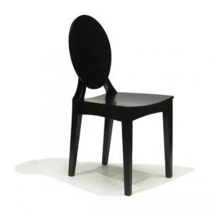 Tenzo Stuhl Binari - Hochglanz - Schwarz