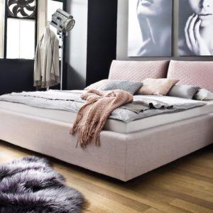 KAWOLA Polsterbett MELIE 200x200cm rosa