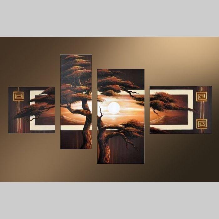 4 Leinwandbilder AFRIKA Baum (5) 120 x 70cm Handgemalt