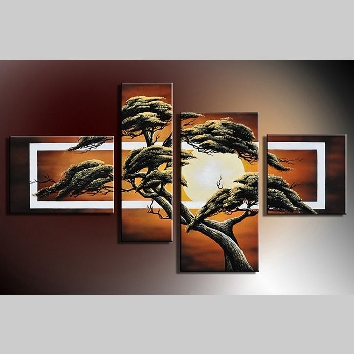 4 Leinwandbilder AFRIKA Baum (11) 120 x 70cm Handgemalt