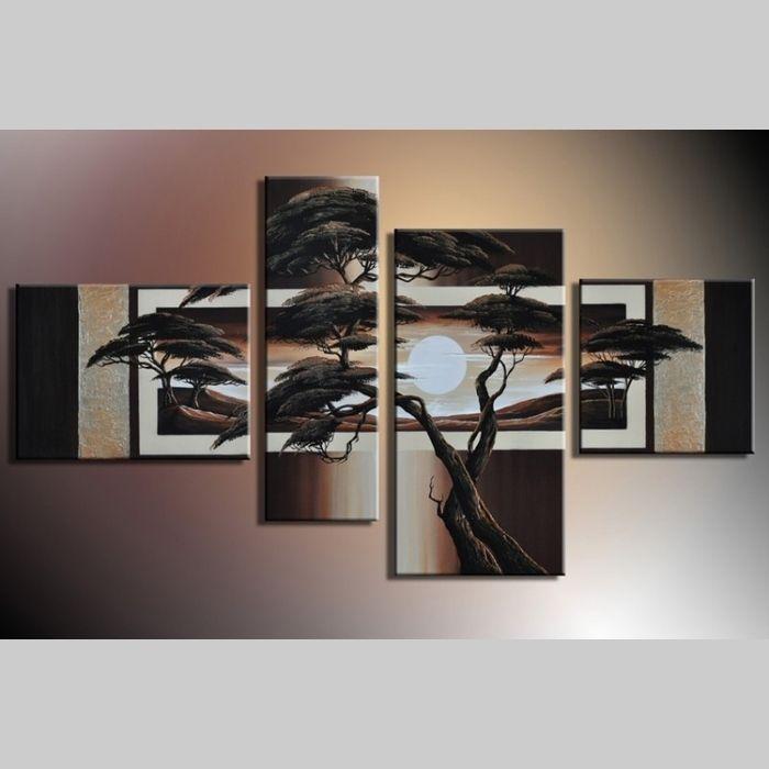 4 Leinwandbilder AFRIKA Baum (13) 120 x 70cm Handgemalt