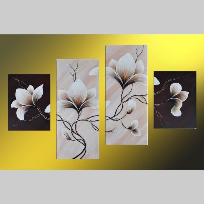 4 Leinwandbilder MAGNOLIA (3) 120 x 80cm Handgemalt