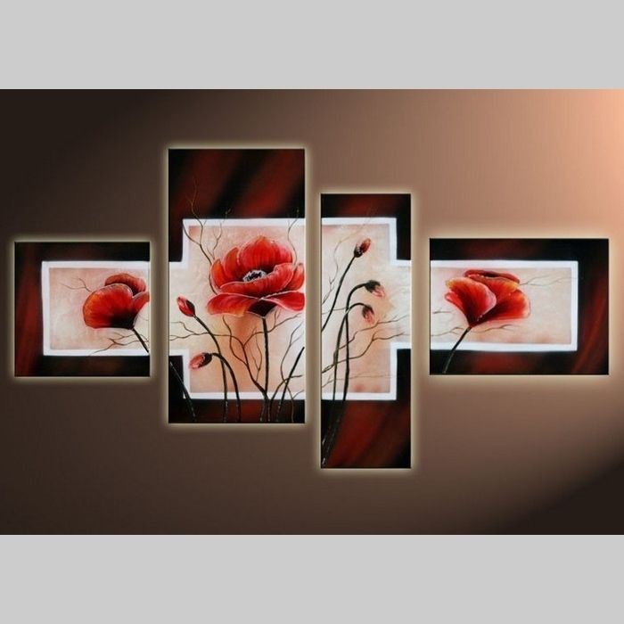 4 Leinwandbilder MAGNOLIA (8) 120 x 70cm Handgemalt