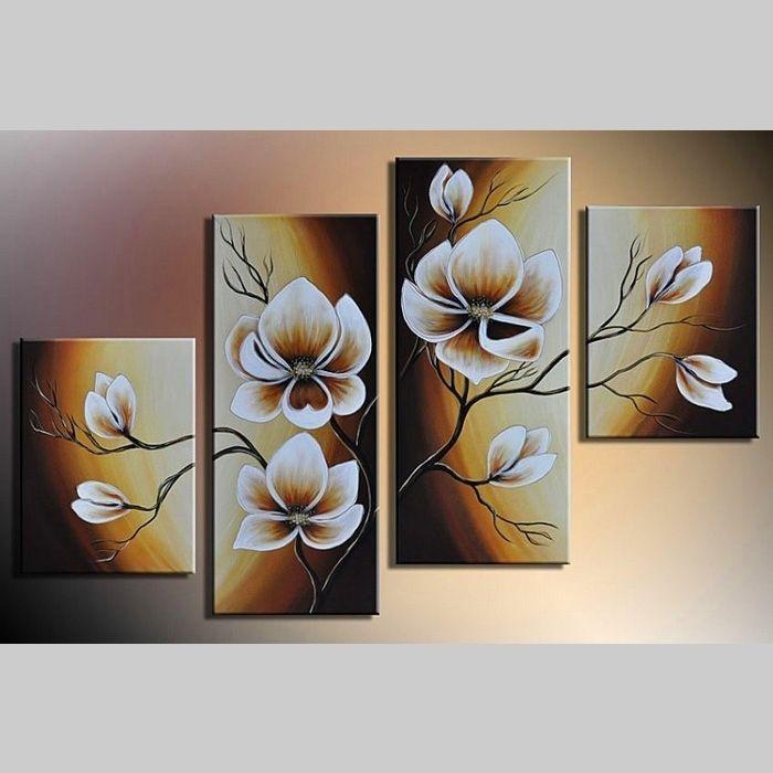 4 Leinwandbilder MAGNOLIA (14) 120 x 80cm Handgemalt