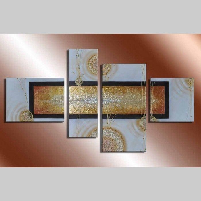 4 Leinwandbilder ABSTRAKTE KUNST (2) 120 x 70cm Handgemalt
