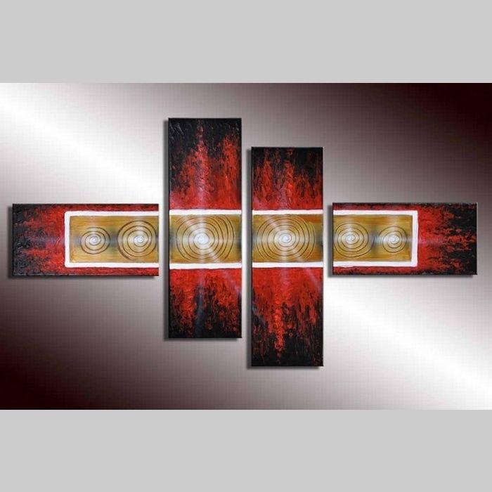 4 Leinwandbilder ABSTRAKTE KUNST (5) 120 x 70cm Handgemalt