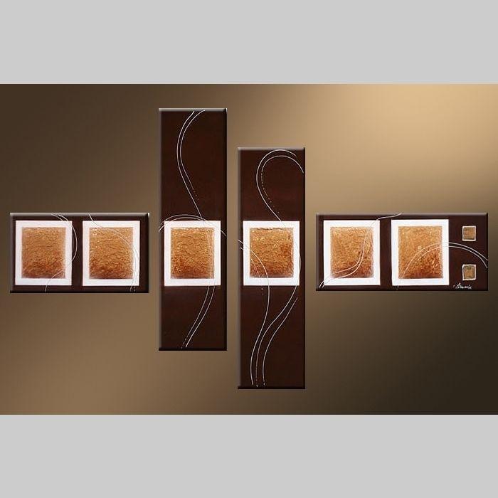 4 Leinwandbilder ABSTRAKTE KUNST (7) 120 x 70cm Handgemalt