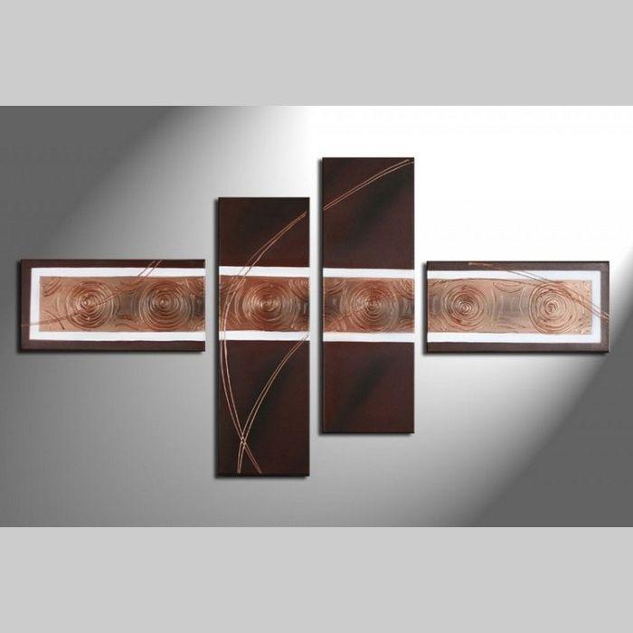 4 Leinwandbilder ABSTRAKTE KUNST (8) 120 x 70cm Handgemalt