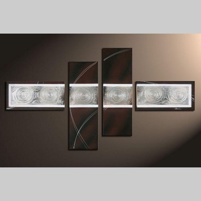 4 Leinwandbilder ABSTRAKTE KUNST (10) 120 x 70cm Handgemalt