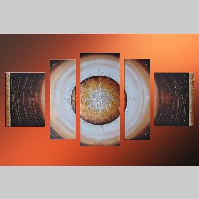 5 Leinwandbilder ABSTRAKTE KUNST (12) 130 x 70cm Handgemalt