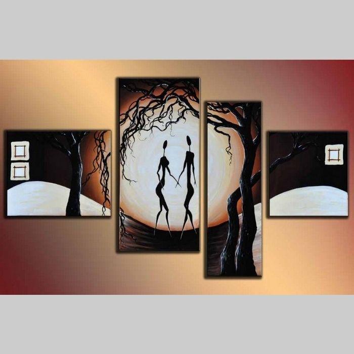 4 Leinwandbilder ABSTRAKTE KUNST (13) 120 x 70cm Handgemalt