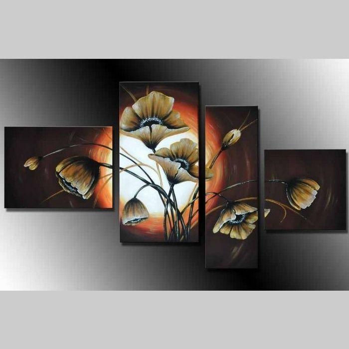 4 Leinwandbilder MOHN (1) 120 x 70cm Handgemalt