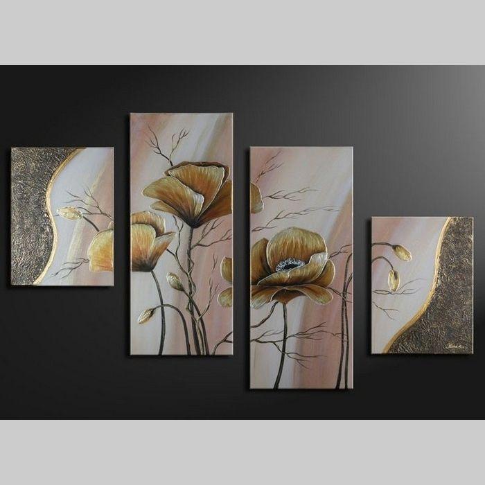 4 Leinwandbilder MOHN (6) 120 x 80cm Handgemalt
