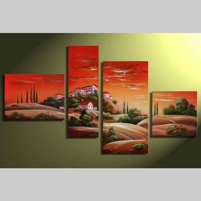 4 Leinwandbilder TOSKANA (1) 120 x 70cm Handgemalt