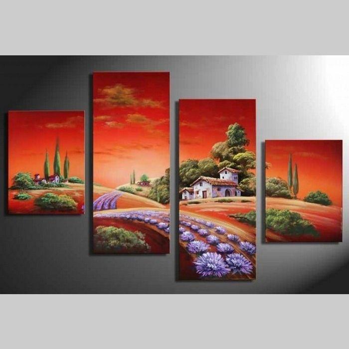 4 Leinwandbilder TOSKANA (2) 120 x 80cm Handgemalt