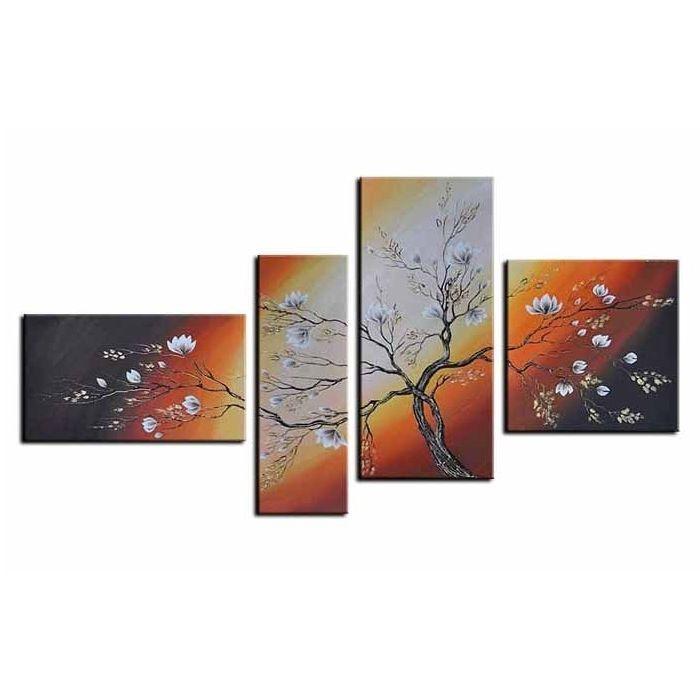 4 Leinwandbilder BLÜTE (2) 140 x 80cm Handgemalt