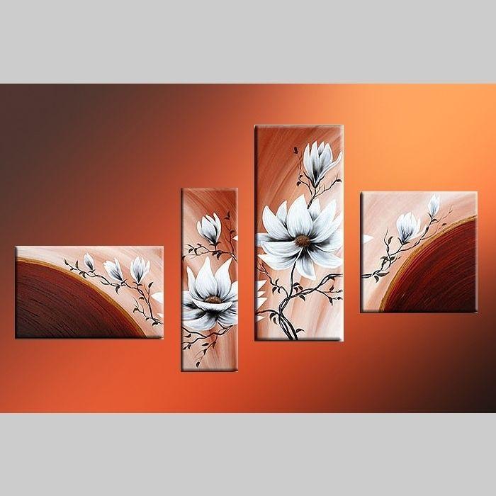 4 Leinwandbilder BLÜTE (3) 140 x 80cm Handgemalt
