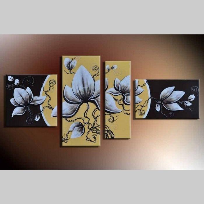 4 Leinwandbilder BLÜTE (4) 140 x 80cm Handgemalt