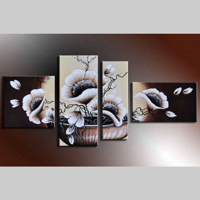 4 Leinwandbilder BLÜTE (5) 140 x 80cm Handgemalt