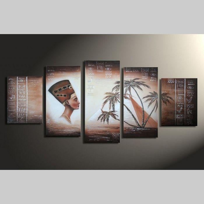 5 Leinwandbilder ÄGYPTEN (1) 150 x 70cm Handgemalt