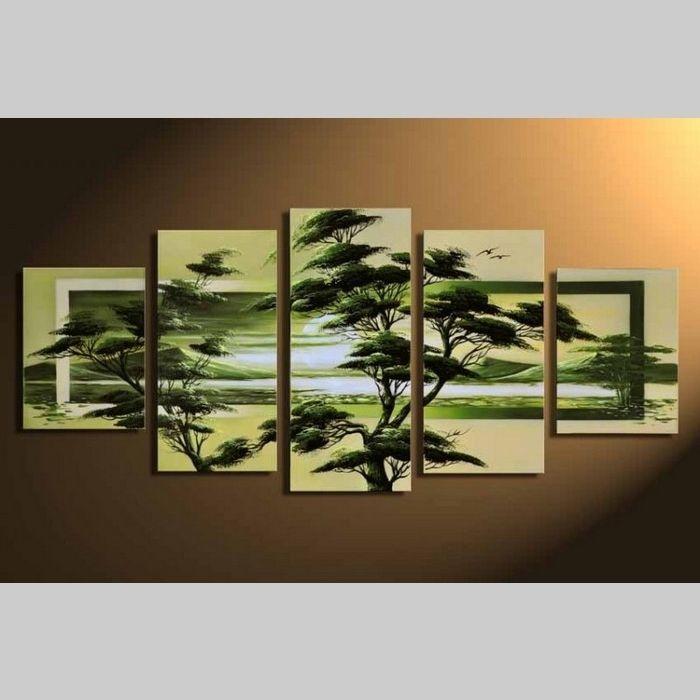 5 Leinwandbilder AFRIKA Baum (4) 150 x 70cm Handgemalt