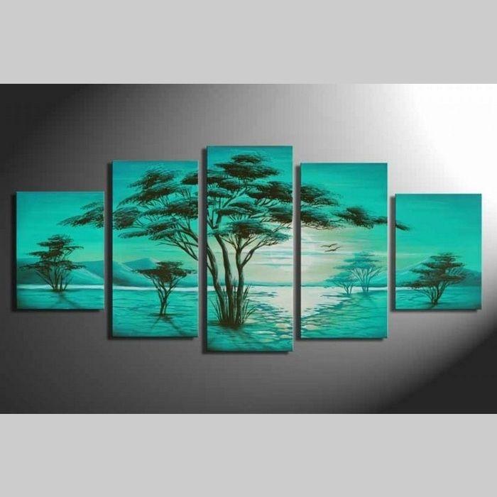 5 Leinwandbilder AFRIKA Baum (5) 150 x 70cm Handgemalt