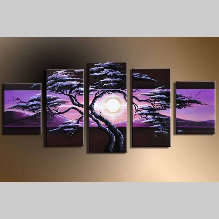 5 Leinwandbilder AFRIKA Baum (11) 150 x 70cm Handgemalt