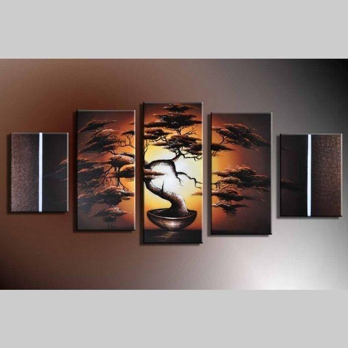 5 Leinwandbilder AFRIKA Baum (13) 150 x 70cm Handgemalt