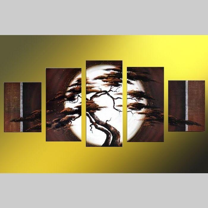 5 Leinwandbilder AFRIKA Baum (14) 150 x 70cm Handgemalt