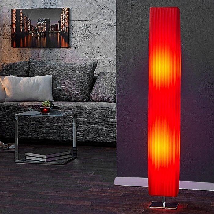 Stehlampe LOOP Rot 120cm Höhe