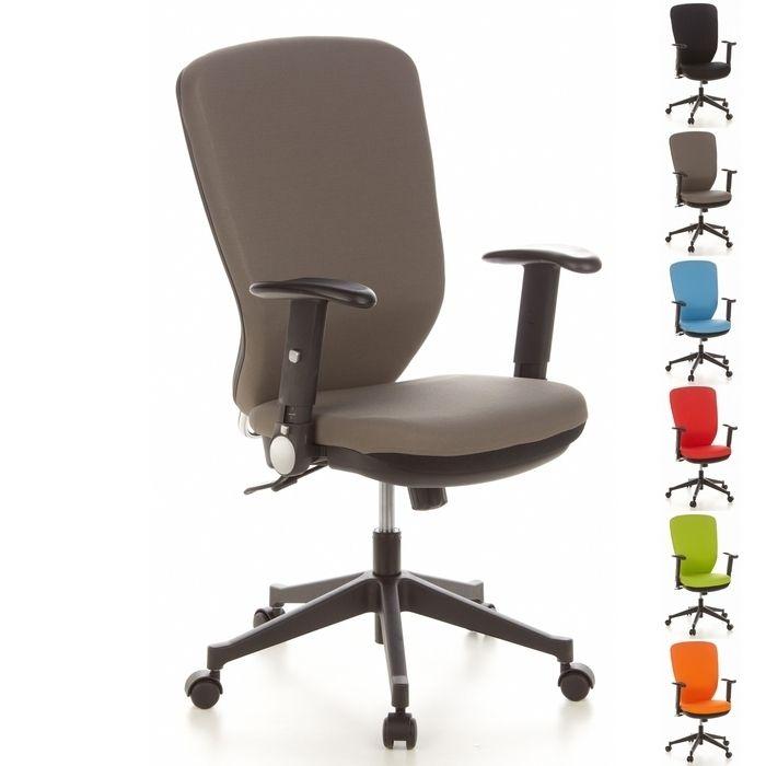 Bürostuhl HELSINKI Schwarz-Grau aus Stoff