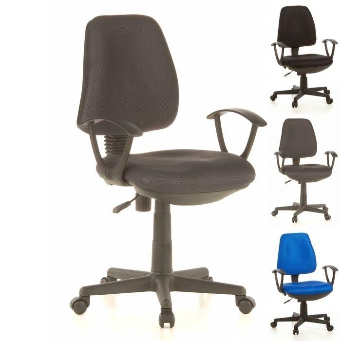 Bürostuhl RIGA Schwarz-Grau aus Netzstoff