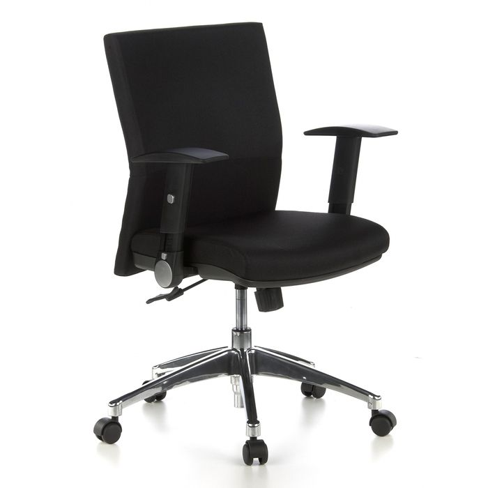 Bürostuhl PRAG Schwarz aus Stoff